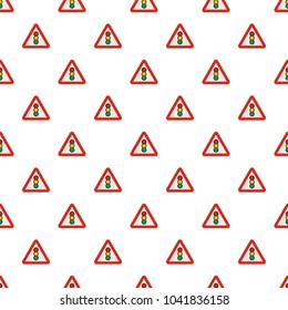 Traffic light pattern seamless in flat style for any design