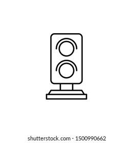 Traffic light railway icon. Element of train station icon