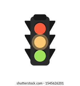 Traffic lights Flat Design Ready Steady Go