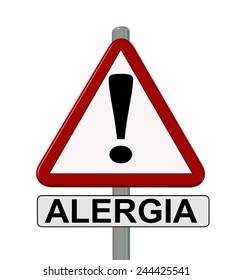 traffic  sign alergia - allergy