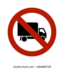 Traffic sign for forbidden entry to trucks or heavy commercial vehicles