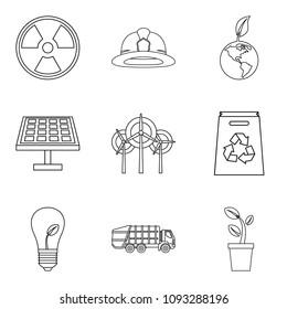 Tragic icons set. Outline set of 9 tragic icons for web isolated on white background