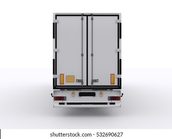 Trailer isolated 3d rendering