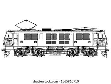 Train 3D Renderings