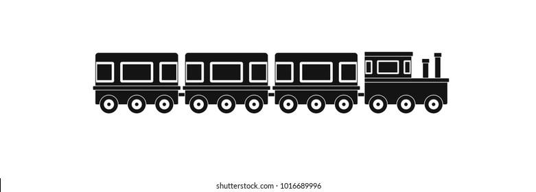 Train icon. Simple illustration of train  icon for web.