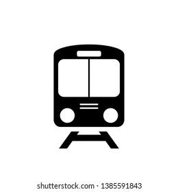 Train icon symbol on white background