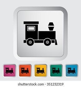 Train toy icon. Flat related icon for web and mobile applications. It can be used as - logo, pictogram, icon, infographic element. Illustration.