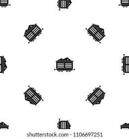 Train waggon with coal pattern repeat seamless in black color for any design. geometric illustration