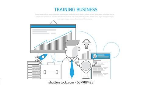 Training business .  flat illustration