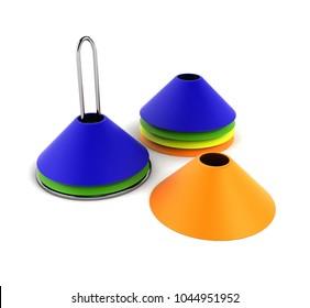 Training Cones 3D Rendering