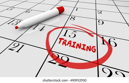 Training Education Learning Class Calendar 3d Illustration