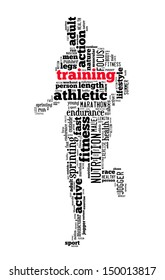 training info-text graphics and arrangement concept (word cloud)