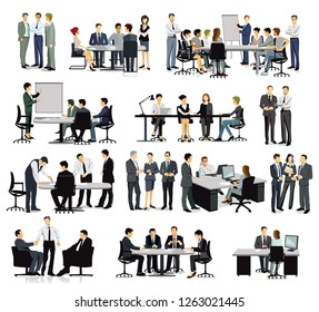 Training, Meeting and discussion in the group, illustration