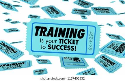 Training Skills Learning Education Ticket Success 3d Illustration