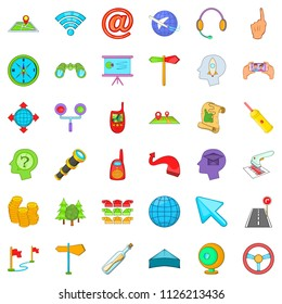 Trajectory icons set. Cartoon set of 36 trajectory icons for web isolated on white background
