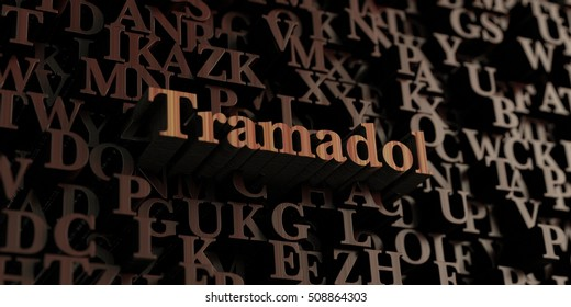 Tramadol - Wooden 3D rendered letters/message.  Can be used for an online banner ad or a print postcard.