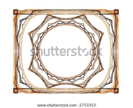 Tramp Art Style Frame Background Pattern Stock Illustration 2753353 ...