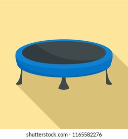 Trampoline icon. Flat illustration of trampoline icon for web design