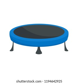 Trampoline icon. Flat illustration of trampoline icon for web design