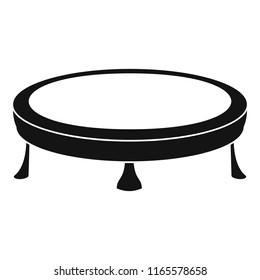 Trampoline icon. Simple illustration of trampoline icon for web design isolated on white background