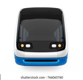 Tram-Train Isolated (front view). 3D rendering