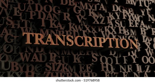 Transcription - Wooden 3D rendered letters/message.  Can be used for an online banner ad or a print postcard.