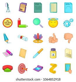 Transducer icons set. Cartoon set of 25 transducer icons for web isolated on white background
