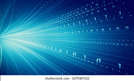 Transfer Of Information, Cloud Computing And Big Data Concept