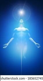 Transformation into light blue