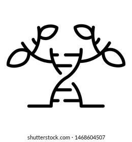 Transgenic biology icon. Outline transgenic biology icon for web design isolated on white background