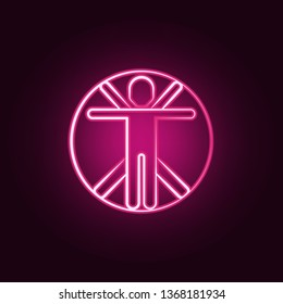 Transhumanism neon icon. Elements of Mad science set. Simple icon for websites, web design, mobile app, info graphics