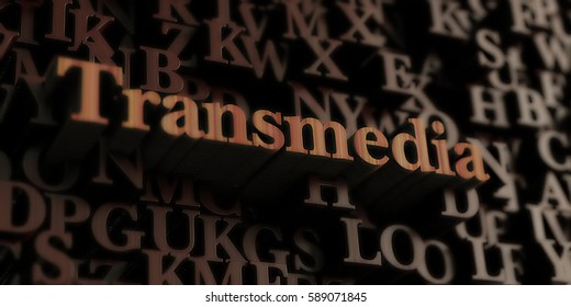 Transmedia - Wooden 3D rendered letters/message.  Can be used for an online banner ad or a print postcard.