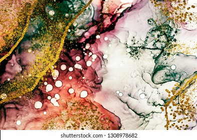 Transparent creativity. Abstract clouds -ART.  Masterpiece of designing art. Inspired by the sky, as well as steam and smoke. Ink colors are amazingly bright, luminous, translucent, free-flowing.