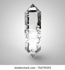 transparent crystal Prism. 3d rendering glass isolated.