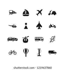 transport icon set for web and mobile