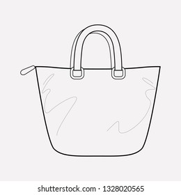 Trapeze bag icon line element.  illustration of trapeze bag icon line isolated on clean background for your web mobile app logo design.