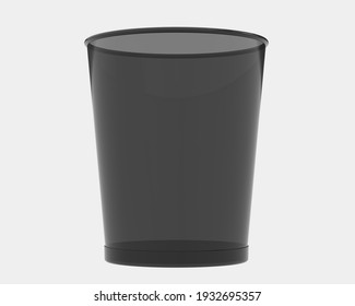 Trash can isolated on background. 3d rendering - illustration
