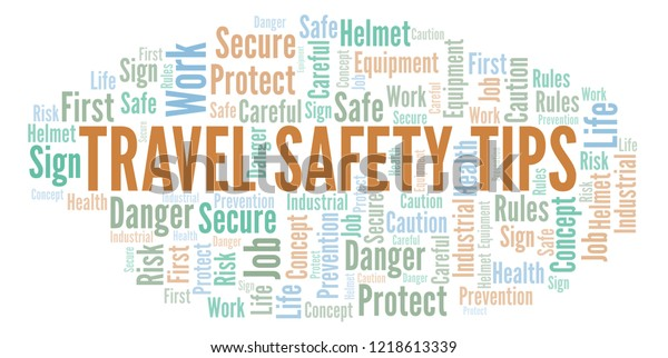 Travel Safety Tips word cloud.