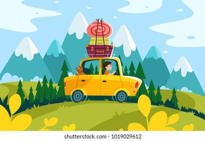 travel time cartoon road