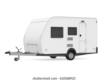 Travel Trailer Isolated. 3D rendering