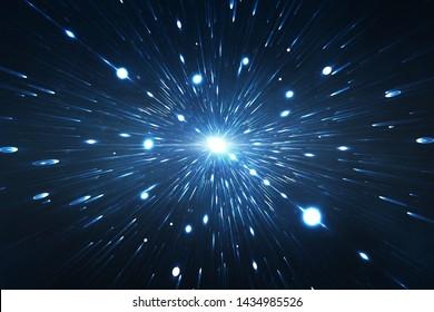 Voyager dans l'espace et le temps, exploration intergalactique supernova