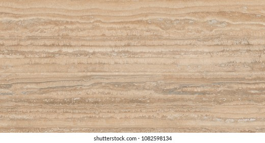 Travertine - horizontal lining figure in light brown wooden effect marble.