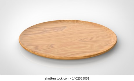 tray wood CG 3d rendering