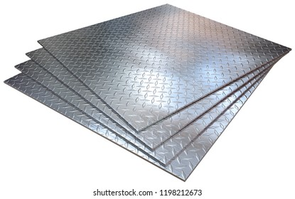Tread plates isolated on white. 3d rendering