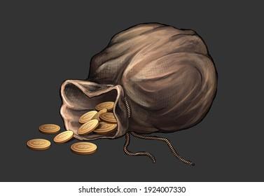 treasure bag full og coints