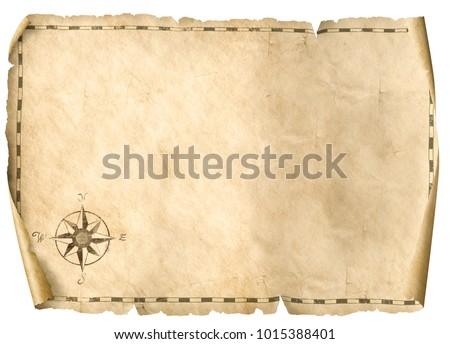 treasure blank map isolated