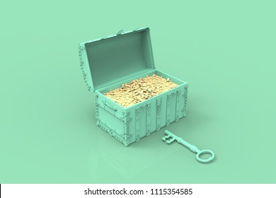 Treasure Chest 3D render