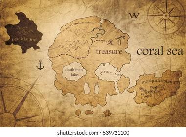 Carte Au Tresor New Bone.Images Photos Et Images Vectorielles De Stock De Pirate