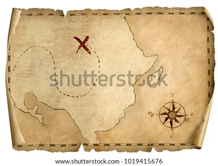 treasure pirates old map