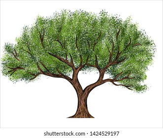 Tree Background Drawing Artwork Illustration